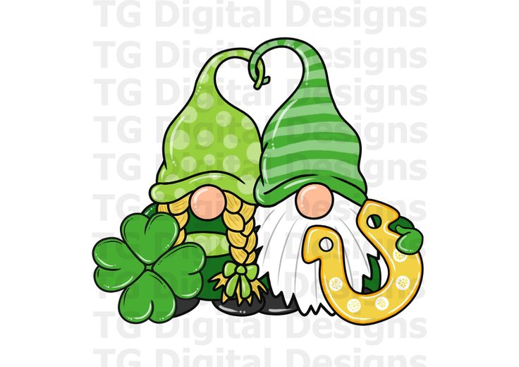 Download St Patrick's Day Lucky Gnome PNG File Gnomes Shamrock ...