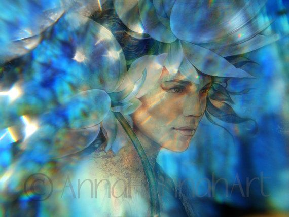 """Queen of the Lotus Land"" from the series ""CrystalArt""by Anna Miarczynska & Sebastian Minor"