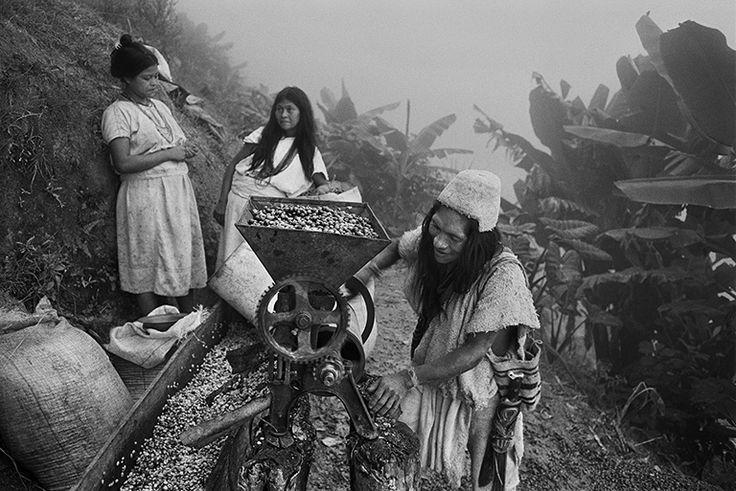 Sebastião Salgado chronicles and celebrates coffee growers Arhuaco indigenous community cooperative. Sierra Nevada de Santa Marta, Colômbia 2007. ©SEBASTIAO SALGADO/AMAZONAS IMAGES FOR ILLY
