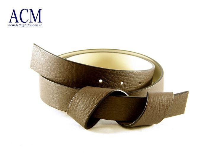 Cintura donna in vera pelle con motivo a spirale sul davanti #woman #leather #belt