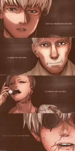 Tokyo Ghoul///I will never forgive that piece of scum Uta bllah that fucking jerk to think he used to be one of my fav characters