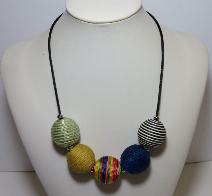 Handmade Necklace Adjustable Colorful Light Easy Wear by FabulousFuss on Etsy