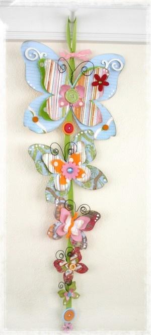 Butterflies - Paper Craft Wall Hanging - Linda Albrecht