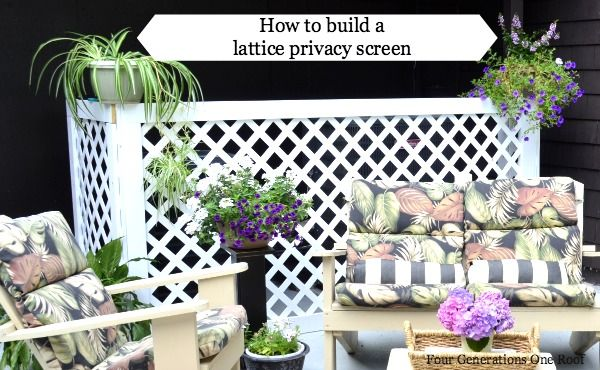 How to build a lattice privacy screen on a budget {tutorial} - Four Generations One Roof