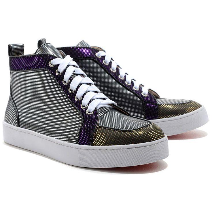 scarpe calcio Rantus Orlato High Top Sneakers Nero Christian Louboutin  vendita on line