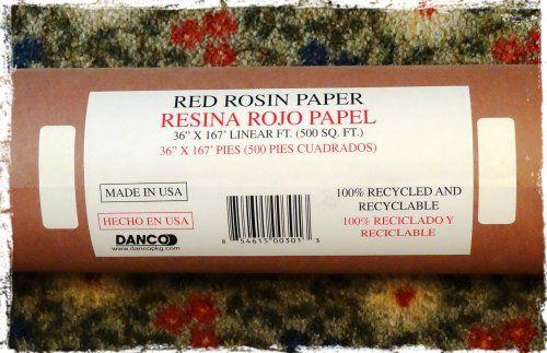 Red Rosin Paper
