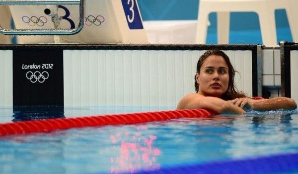 Zsuzsanna Jakabos, the Hungarian swimmer, at the 2012 London Olympics