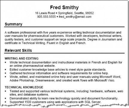 17 best Building a Career \ Planning Your Resume images on - profile summary resume