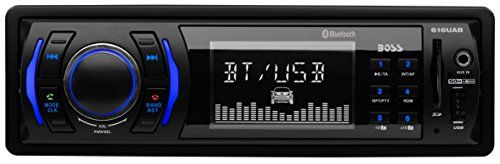 BOSS Audio 616UAB Single Din, Bluetooth, MP3/USB/SD AM/FM Car Stereo, Wireless Remote. For product info go to:  https://www.caraccessoriesonlinemarket.com/boss-audio-616uab-single-din-bluetooth-mp3usbsd-amfm-car-stereo-wireless-remote/