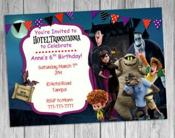 Hotel Transylvania Invitation Hotel by PrisellieDesigns on Etsy