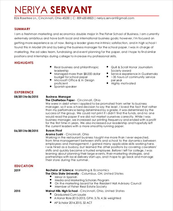 The 25+ best Format of resume ideas on Pinterest Resume writing - resume first job