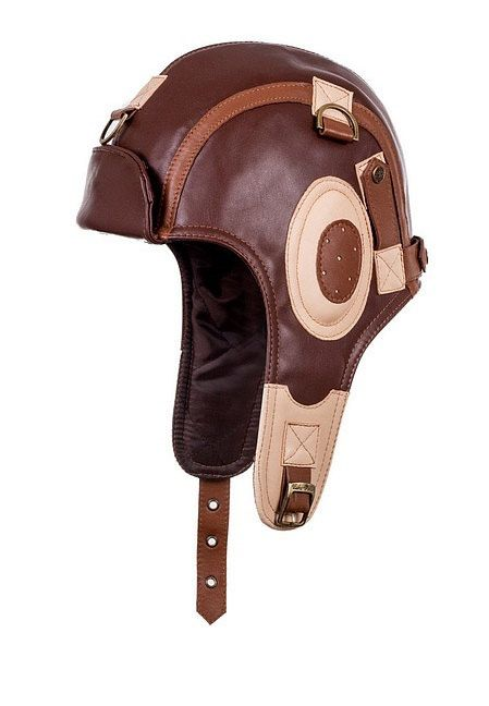 LEATHER+TRAPPER+HAT+New+brown+cap+with+ear+caps+women+pilot