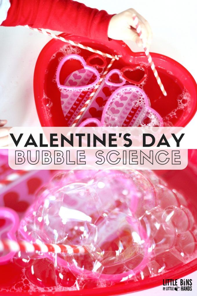 Valentines Bubble Science Activity For Kids