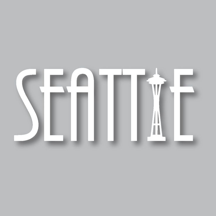 Our seattle diecut sticker is perfect for the people who love the beautiful city life