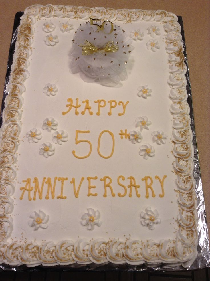 50th Wedding Anniversary Gift Ideas For Brother : 50th wedding anniversary cake full sheet cake. Half white half ...