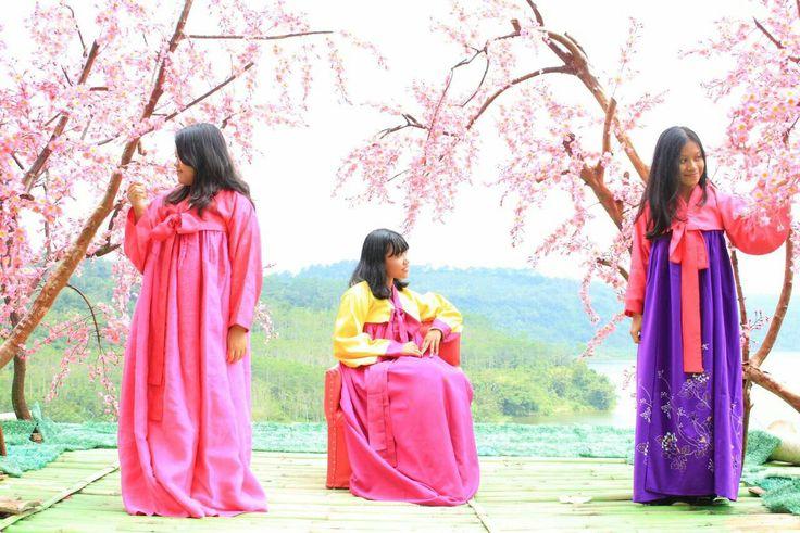 Hanbok korea ❤ spring cherry blossom 🌸