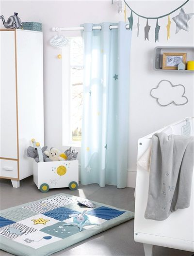 vorhang f r kinderzimmer blau babyzimmer pinterest. Black Bedroom Furniture Sets. Home Design Ideas