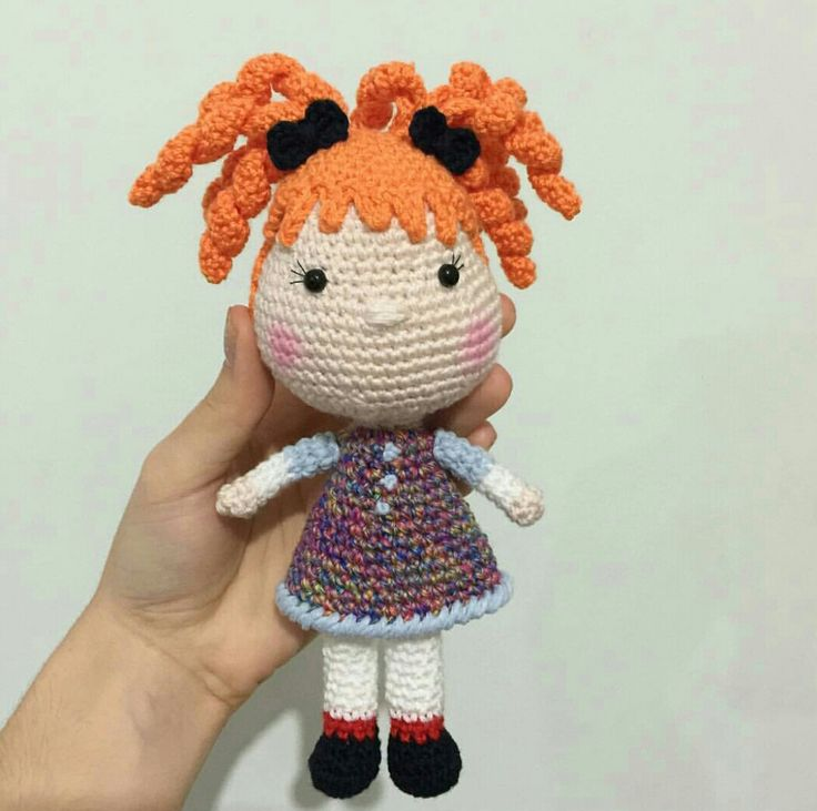 Amigurumi Örgü Oyuncak Modelleri – Amigurumi Turuncu Saçlı Kız Bebek Tarifi ( Anlatımlı ) – Örgü, Örgü Modelleri, Örgü Örnekleri, Derya Baykal Örgüleri