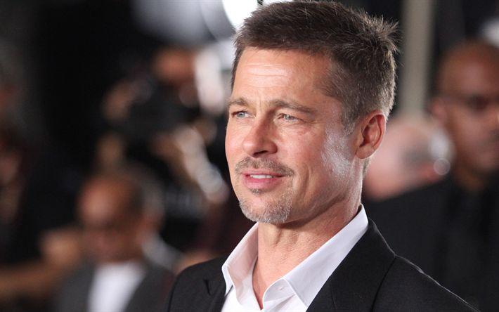 Hämta bilder Brad Pitt, Amerikansk skådespelare, porträtt, stiliga män