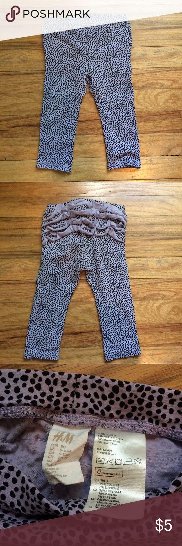 H&M leggings. 9-12 m H&M leggings. Ruffle back. 9-12 m H&M Bottoms Leggings