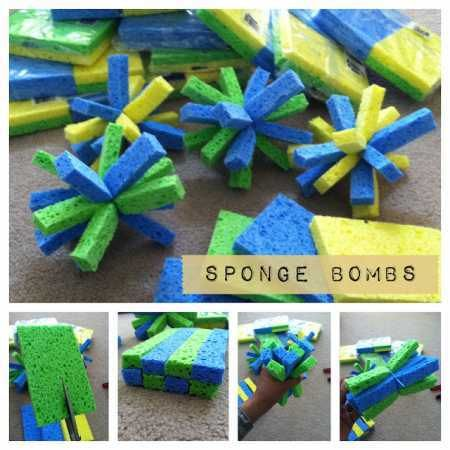 #DIY sponge bombs for #summer picnics and parties.