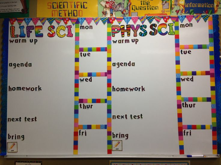 Classroom Organization. Agenda board is all set for the new year!