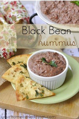 ... hummus. Use black beans instead of garbanzo beans along with roasted