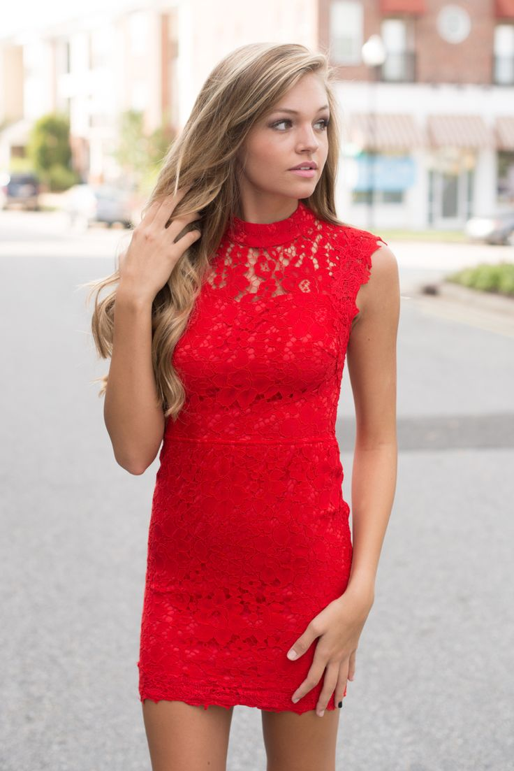 1000  ideas about Red Lace Dresses on Pinterest | Red lace, Kaftan ...