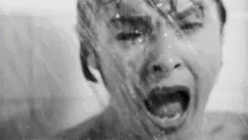 Psycho GIF - Shower Psycho Scream GIFs