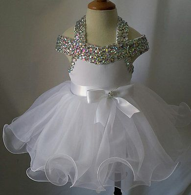 Infant/toddler/baby glitz Girl's Pageant Dress for birthday,bridal 1~5T G081D