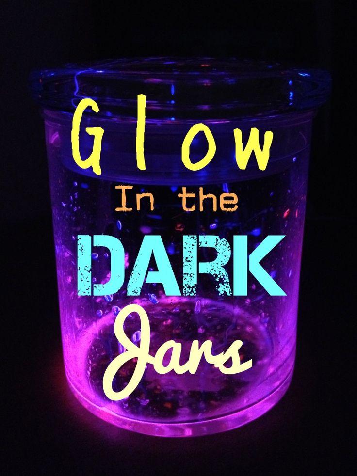 DIY Glow Stick Jars | crafts for the KIDS | Glow stick ...
