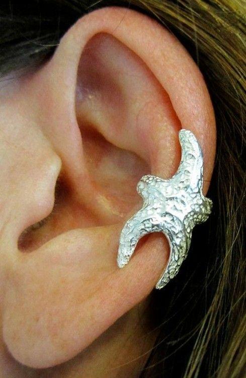 reminds me of that movie AquaMarine :): Fashion, Style, Piercing, Starfish Cuff, Ear Cuffs, Ears, Jewelry, Starfish Earrings
