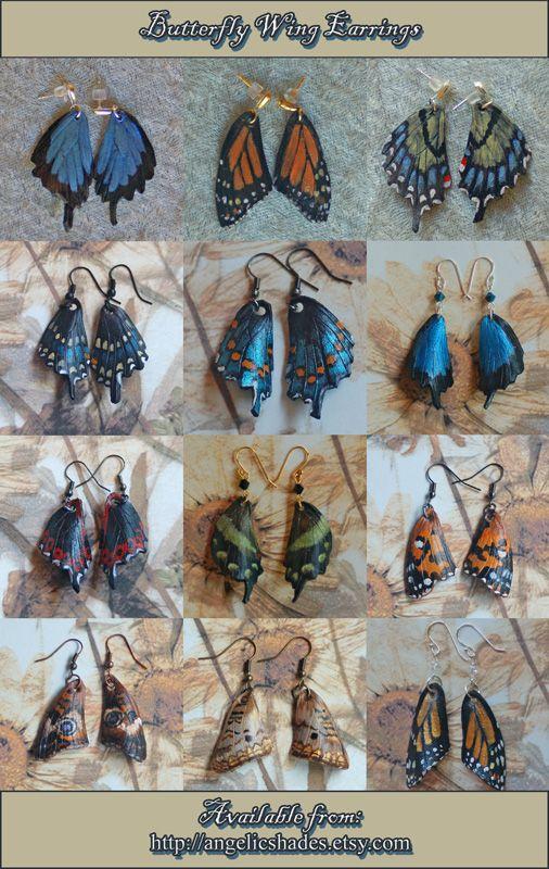 Leather Butterfly Wing Earrings 4-17-2012 by =AngelaSasser-artisan on deviantART