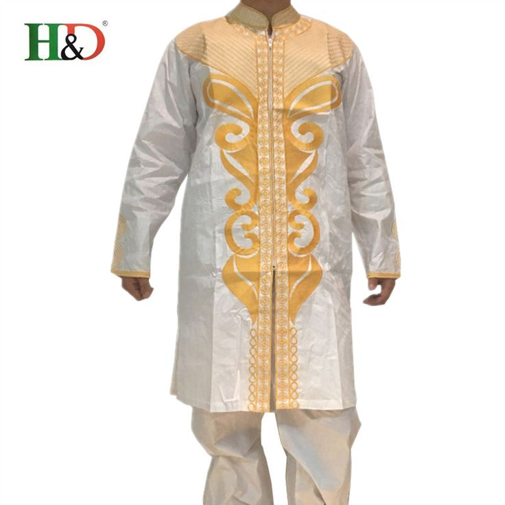 (Free shipping)Africa's riche man costume Bazin embroidery design style cotton 100% african Dashiki PH47