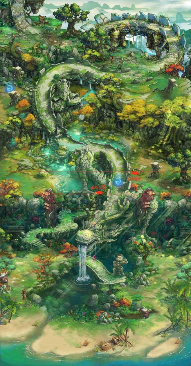 【概念设计】QQ仙灵_Yeşillikler Arasına Bir Yol