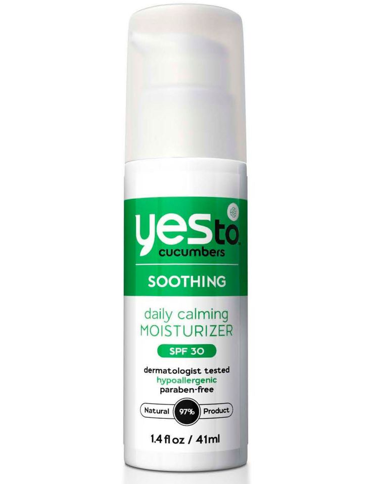 Yes to Cucumbers Daily Facial Moisturizer SPF 30 ($14.99) uses minerals, not chemicals, to protect against UVA and UVB rays. Refreshing ingredients like cucumber and aloe vera soothe, no matter what your skin type.