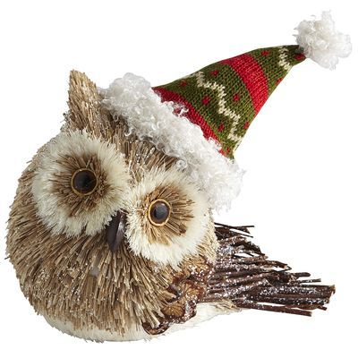 Natural Owl with Hat