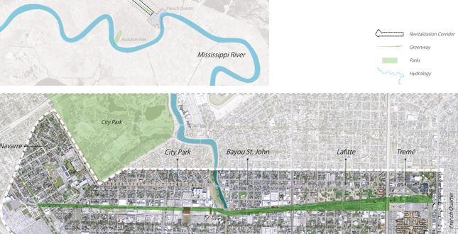 Lafitte Greenway + Revitalization Corridor | Linking New Orleans Neighborhoods