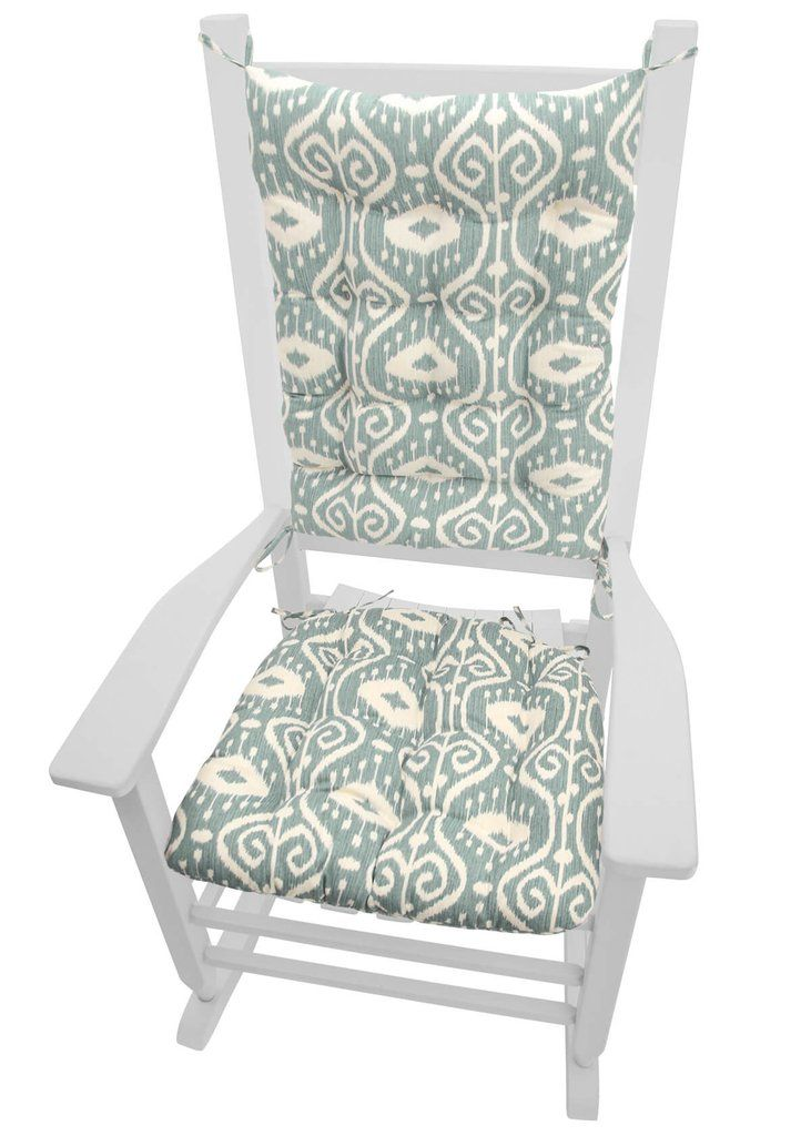 Bali Ikat Aqua Spa Rocking Chair Cushions Are Made In A Traditional Ikat  Style Fabric In