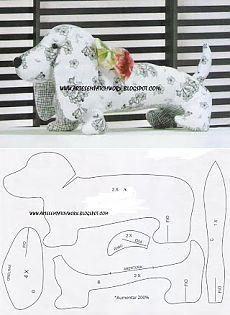 Лоскутное Грейс: Собачка Бассет