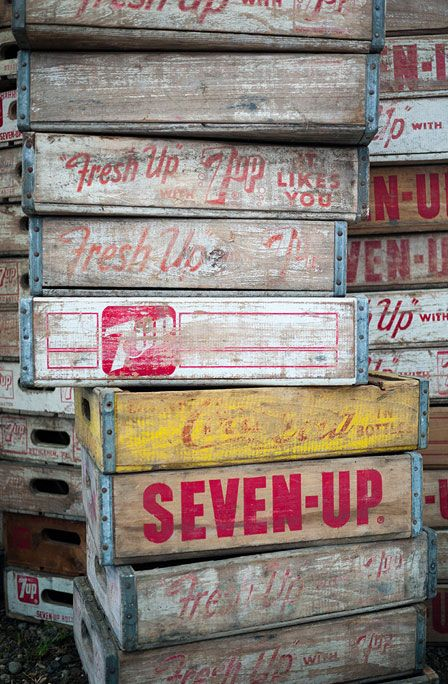 Wooden soda crates~want want want...please please please!!!