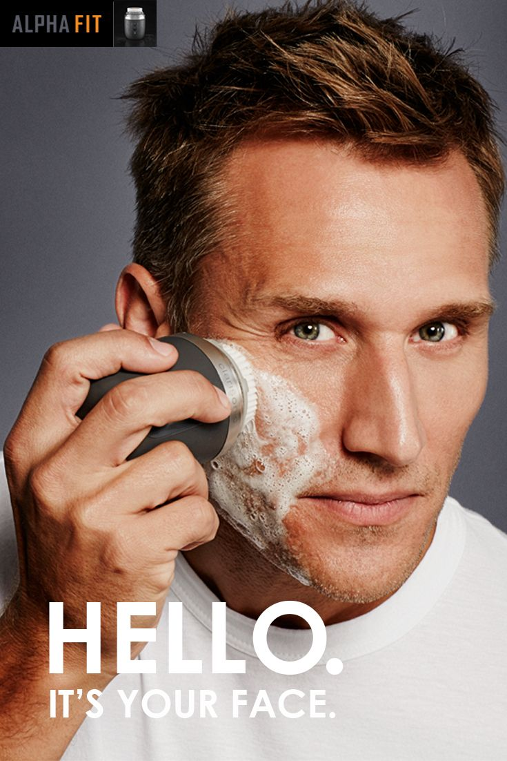 Treat your face right. Spend 60 seconds a day to get a closer shave and softer, cleaner skin. The new Alpha Fit sonic cleanser from Clarisonic - because soap, water and your hands just don't do the job. It's as easy as water + soap + 60 targeted seconds on your face, 1-2x a day. And if you have a beard, we've got you covered with a setting that cleans even the gnarliest of beards for men's grooming that works.