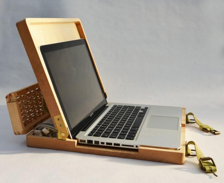 Деревянный рюкзак для ноутбука