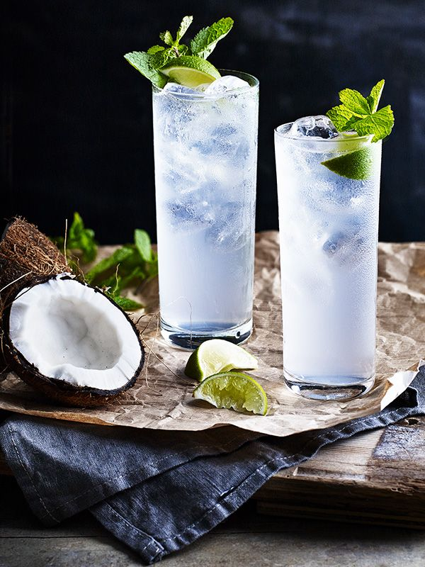Spike the coconut water with Diplomatico Blanco for a slightly more virtuous cocktail.