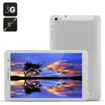 8 Inch 3G Tablet - Android 4.2 OS, MTK8382 Quad Core, IPS Screen, 1GB RAM, 16GB ROM (White)