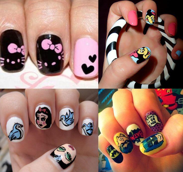 Character Design Nails : Character nails for nail fashion pinterest