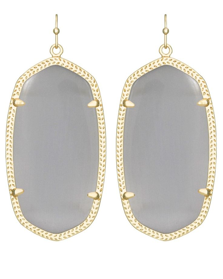 Kendra Scott Lee Earring Slate Cat Eye Grey amVOqH