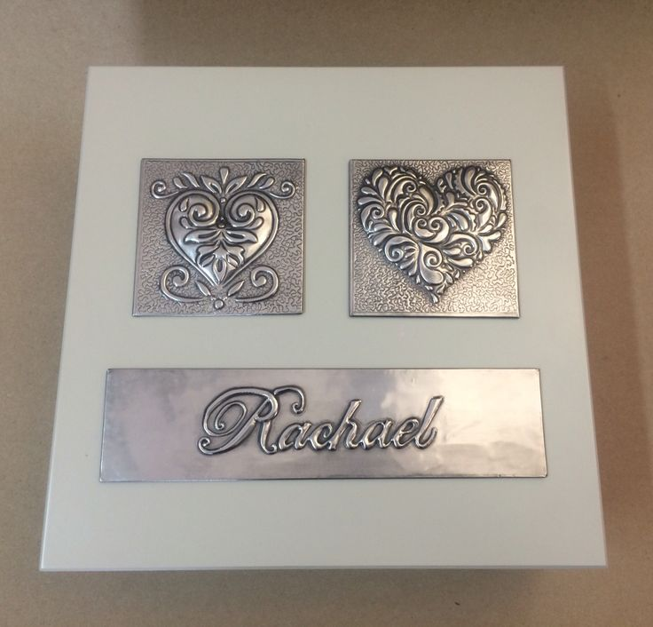 A beautiful pewter keepsake box done by Nadine www.mimmic.co.za