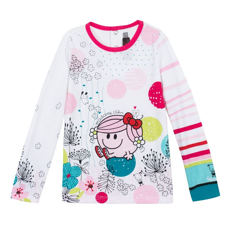 Little Miss Hug' T-shirt Ecru Catimini
