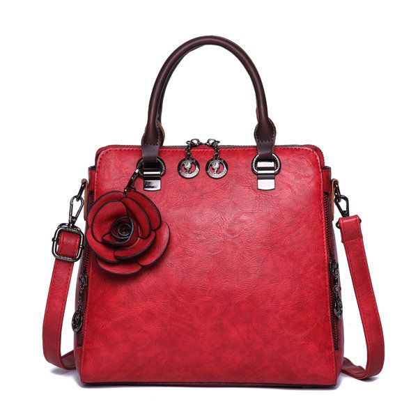 b220f7ca38bf Women Retro Genuine Leather Hangdbag Pure Color Large Capacity Korea Style Crossbody  Bag